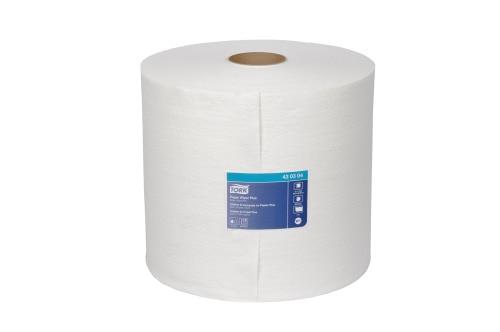 Chiffon en papier Tork Plus, rouleau géant