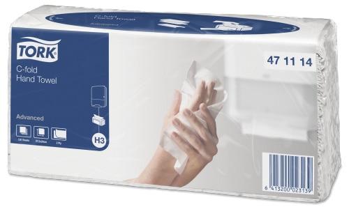 Листовые полотенца Tork сложения C-fold