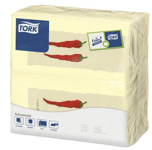 Tork Χαρτοπετσέτα δείπνου Hot Chili, διπλωμένη κατά το 1/8