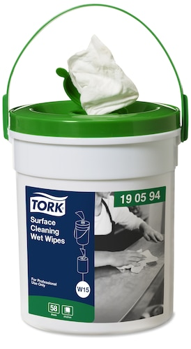 Vlhčené utierky na čistenie povrchov Tork