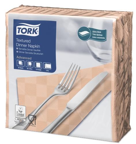 Tork Textured Peach Dinner Napkin