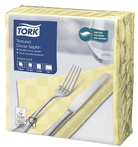 Tork Tovagliolo Dinner goffrato champagne (piegato in 4)