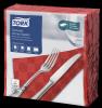 Tork Textured Red Dinner Napkin