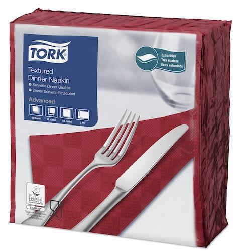 Tork teksturirana bordo crvena salveta za večeru