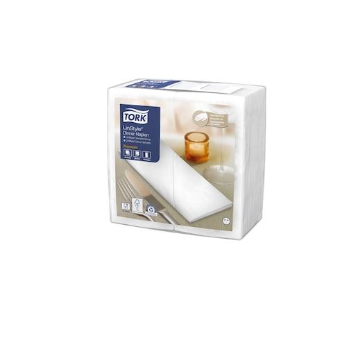 «Tork Premium Linstyle®» balta banketu salvete, ar 1/8locījumu