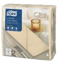 Tork Premium Linstyle® Serviette Dinner, Vanille pliage 1/8