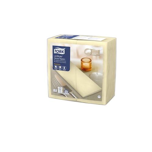 Tork Premium LinStyle® Tovagliolo Dinner champagne (piegato in 8)