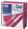 Tork Textured Bright Pink Dinner Napkin