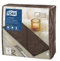 Tork Premium Linstyle® kakaovärvi 1/8 volditud õhtusöögisalvrätik