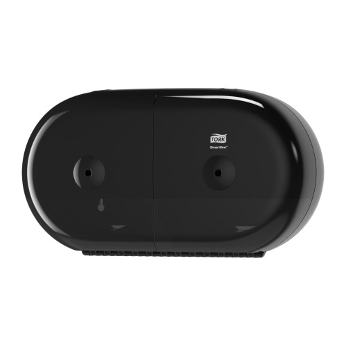 Tork SmartOne® Twin Mini Toilet Roll Dispenser Black