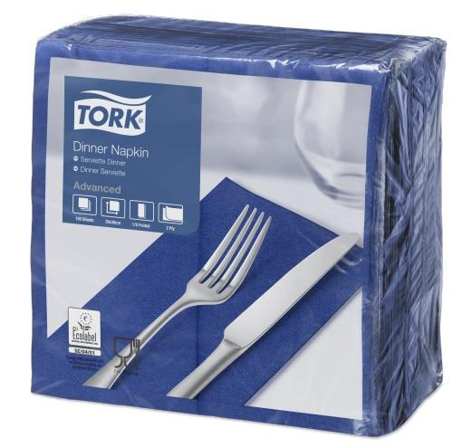 Tork Χαρτοπετσέτα δείπνου Dark Blue, διπλωμένη κατά το 1/8