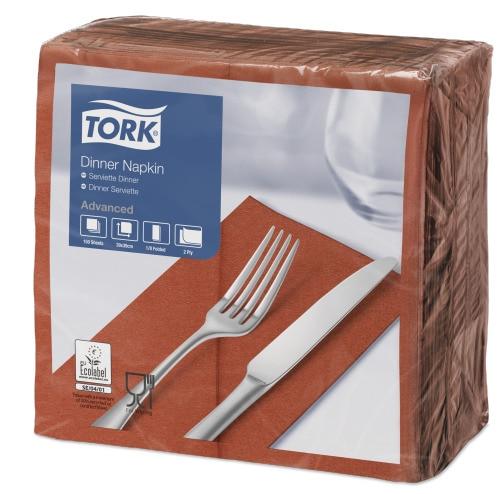Tork terrakota 1/8 volditud õhtusöögisalvrätid