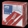 Tork Red Dinner Napkin 1/8 Folded