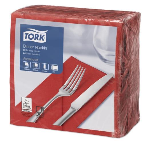 Tork Dinnerserviette Rot
