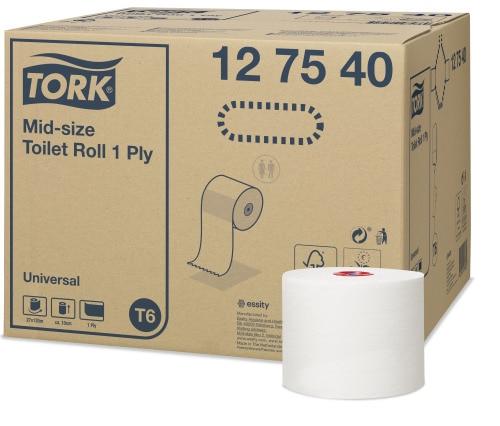 Tork Mid-Size toaletna rola univerzalna – 1-slojna