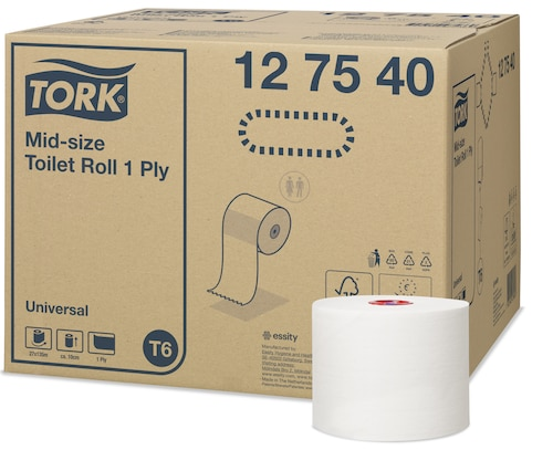 Tork Papier toilette rouleau Mid-size Universal 1pli