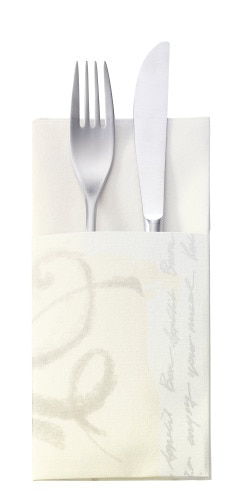 Tork Premium Textile Feel Symphony Cutlery Bag Napkin
