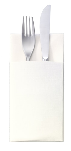 Tork Premium Textile Feel White Cutlery Bag Napkin