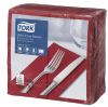 Tork Soft Bordeaux Red Dinner Napkin 1/8 Folded
