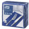 Tork Soft Dark Blue Dinner Napkin 1/8 Folded