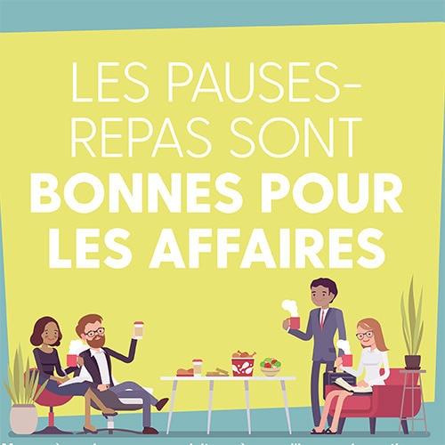 Pauses-repas bonnes pour les affaires 11 x 17