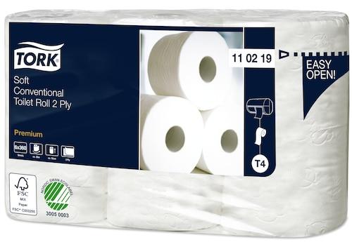 «Tork Premium» mīksts parastā tualetes papīra rullis—2kārtas