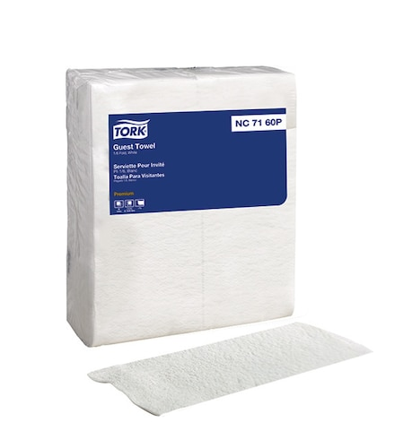 Tork LinStyle® White Valet Guest Towel, 1/6 Fold