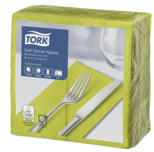 Tork Soft Dinnerserviette Limone 1/8 Falz