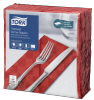 Tork Textured Red Dinner Napkin 1/8 Folded