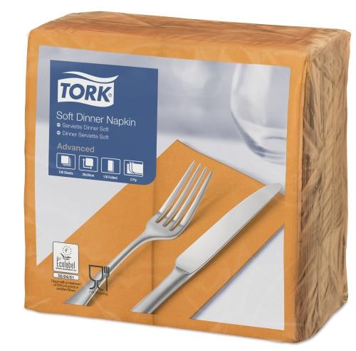 Tork Soft narancssárga Dinner szalvéta, 1/8 hajtogatás