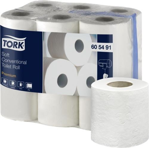 Tork Papier toilette rouleau traditionnel doux Premium - 2 plis