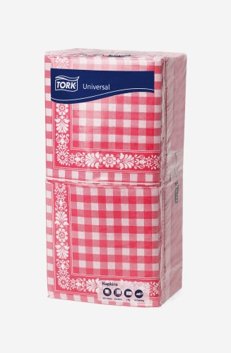 Tork Red Check Lunch Napkin 1P