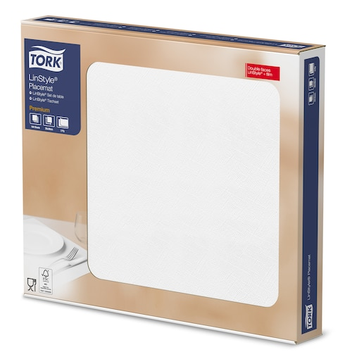 Tork Premium LinStyle® White Placemat