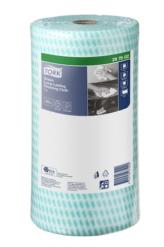 Tork® Green Heavy-Duty Colour Coded Cleaning Cloth