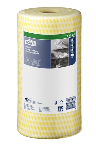 Tork® Yellow Heavy-Duty Colour Coded Cleaning Cloth