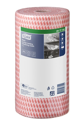 Tork® Red Heavy-Duty Colour Coded Cleaning Cloth