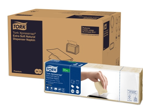 Tork Xpressnap® Extra Soft Natural Environmental Print Dispenser Napkin