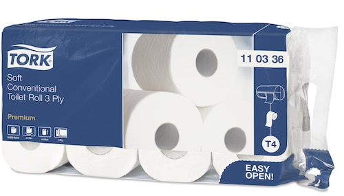 Tork weiches Kleinrollen Toilettenpapier Premium – 3-lagig