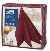 Servilleta para cena Tork Premium Linstyle® burdeos