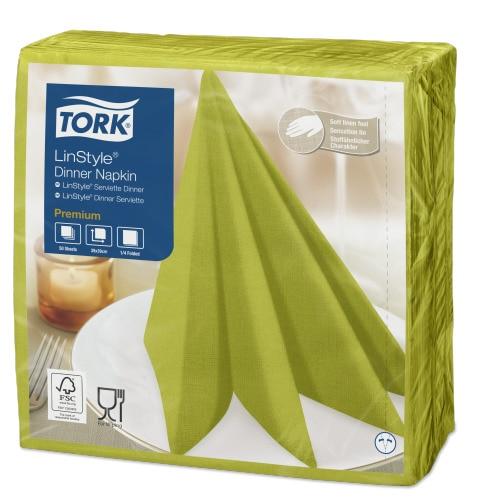 Tork Linstyle® обеденные салфетки фисташковые