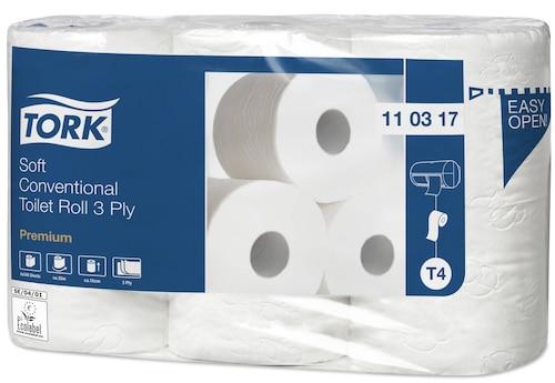 Tork jemný toaletný papier konvenčný kotúč Premium s 3vrstvami