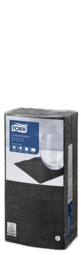 Tork Black Cocktail Napkin
