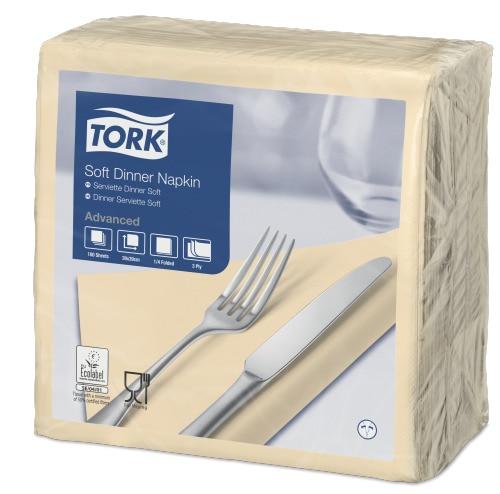 Tork Soft Cream Dinner Napkin