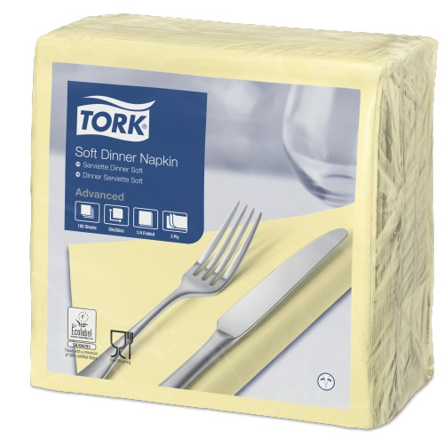 Tork Soft samppanja Dinner-lautasliina
