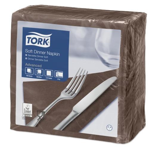 Tork Soft χαρτοπετσέτα δείπνου Brown