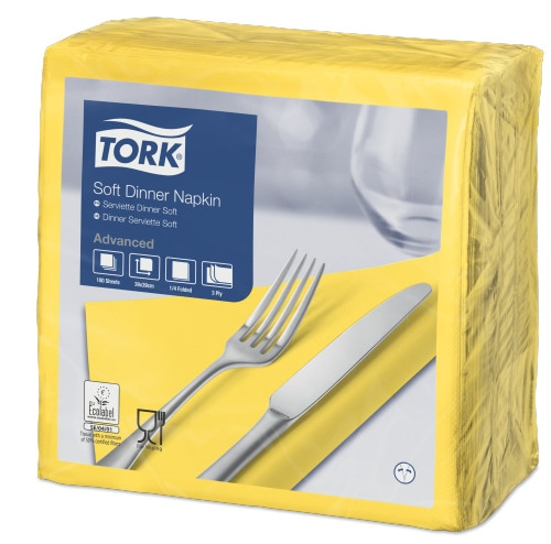 Tork Serviette Dinner Doux, Jaune