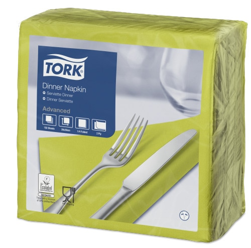 Tork Lime Dinner Napkin