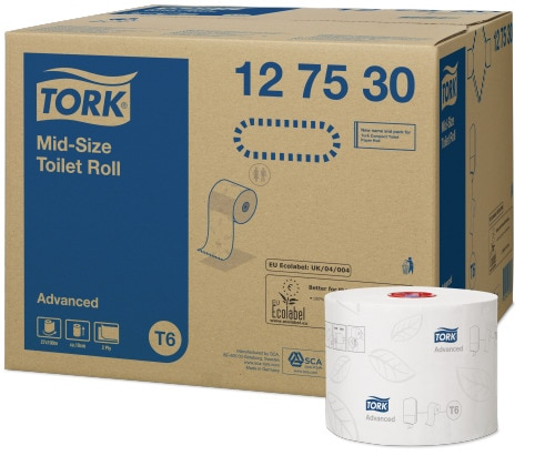 Tork Mid-size Toalettrull Advanced