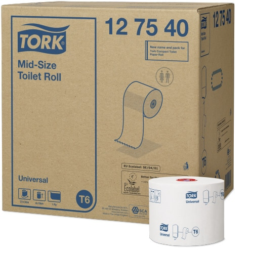 Tork Mid-Size Toilet Roll Universal - 1 Ply
