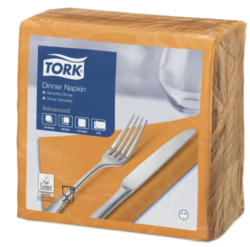 Tork Orange Dinner Napkin
